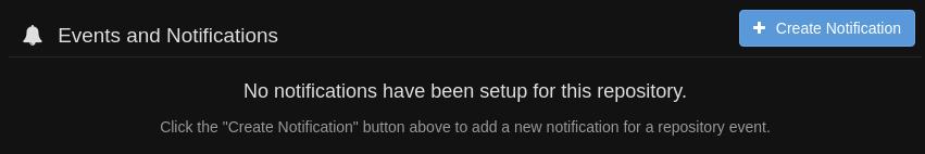 quay.io notifications setting