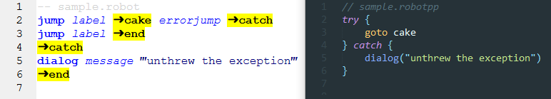 try-catch of a function call