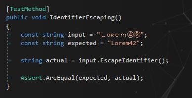 Unicode to ASCII normalization unit test