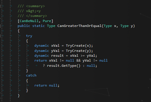 Checking if two types can be compared via dynamic types